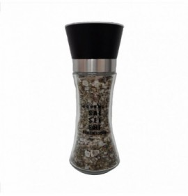 Salt grinder with natural salt flakes and fine herbs100 gr