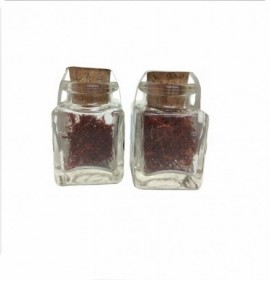 Selected Spanish Saffron threads in glass jar 1 g